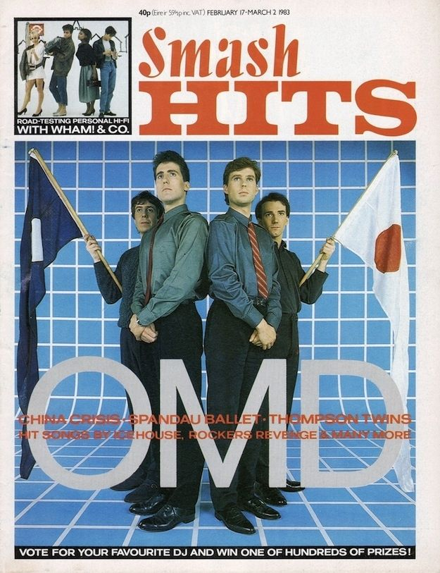 Mal Holmes OMD Drummer - Smash Hits Front Cover